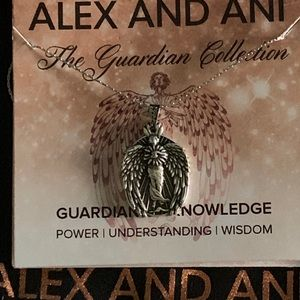 Alex Ani Silver Guardian Of Knowledge Necklace